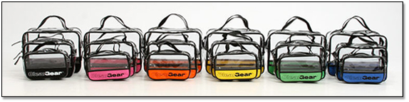 Clear Gear comes in many colors and 3 convenient sizes.
