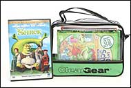 Clear Gear is great for storing DVDs for easy travel in the car